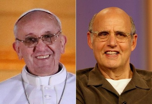 pope and jt Pope Francis and Jeffrey Tambor: Celebrity Doppelgangers!