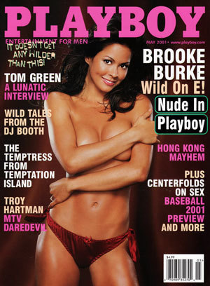 Here's another Playboy cover graced with a photo of Brooke Burke naked.