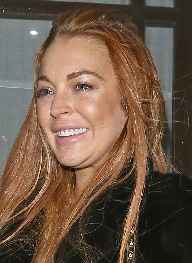lindsay lohan double chin Lindsay Lohan Turns Down 'Dancing With The Stars'