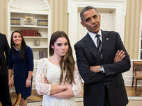 President Obama and McKayla Maroney