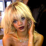 Rihanna Topless, Blonde Haired