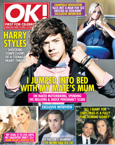 harry styles ok cover Harry Styles admits pregnancy scare, advises fans: Use condoms!